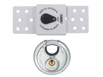 142 Series Sliding Door Van Lock & 23/70mm Diskus® Padlock